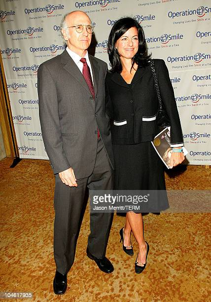 Larry David and guest during Operation Smile 4th Annual Los Angeles Gala at Regent Beverly Wilshire Hotel in Los Angeles, California, United States.