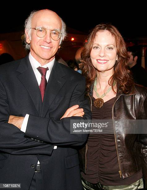 Larry David and Lesley Ann Warren during Curb Your Enthusiasm Season 5 Premiere Screening Red Carpet at Paramount Theater at Paramount Pictures Lot...