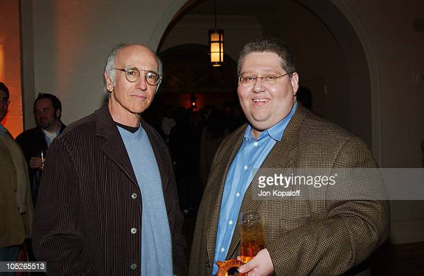 Larry David and Producer David Mandel during 'Eurotrip' Los Angeles Premiere After Party at Roosevelt Hotel in Hollywood California United States