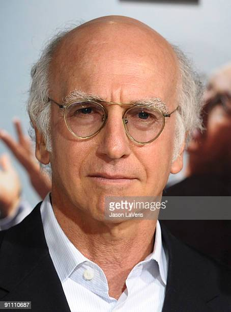 Larry David attends the 7th season premiere of HBO's Curb Your Enthusiasm at Paramount Theater on the Paramount Studios lot on September 15 2009 in...