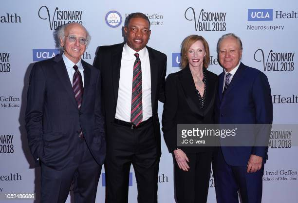 Larry David Doc Rivers Edie Baskin Bronson and Richard 'Skip' Bronson attend the 2018 Visionary Ball benefiting the UCLA department of neurosurgery...
