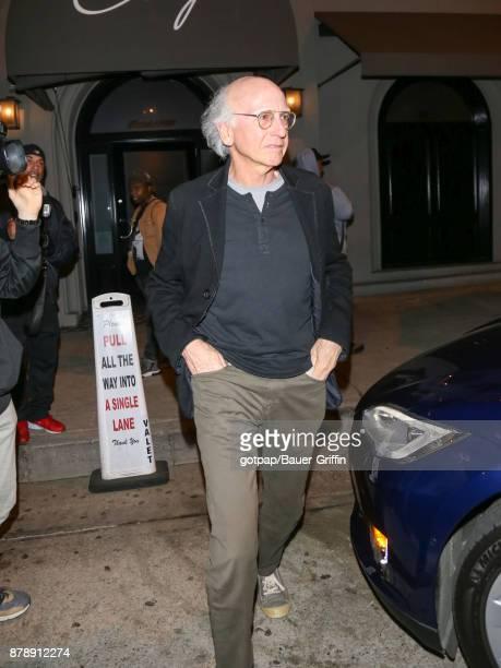 Larry David Is Seen On November 24 2017 In Los Angeles California