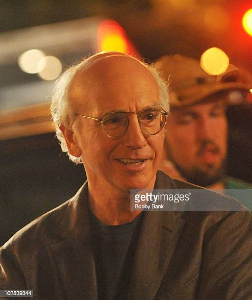 Larry David on location for Curb Your Enthusiasm on the streets of Manhattan on July 12 2010 in New York City