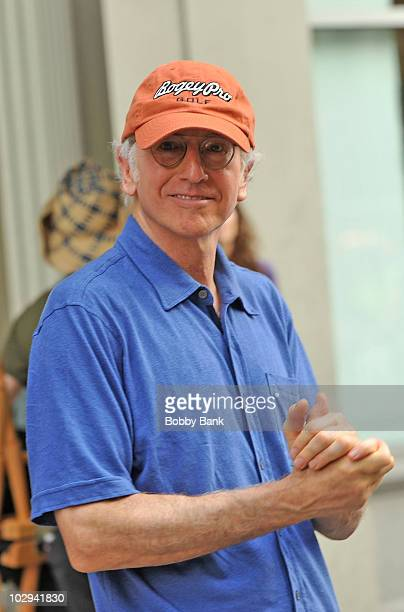 Larry David on location for Curb Your Enthusiasm on the streets of Manhattan on July 16 2010 in New York City