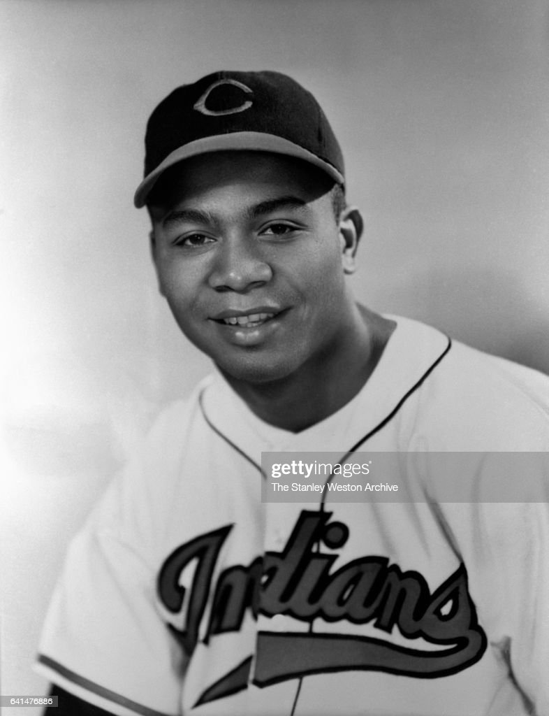 Larry Doby, centerfielder of the Cleveland Indians, poses for a portrait during his rookie season in 1947.