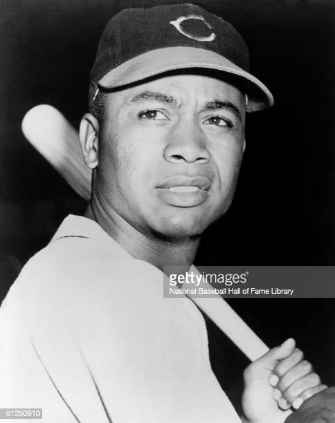 Larry Doby poses with his bat for a season portrait Larry Doby played for the Cleveland Indians from 19471955 then in 1958