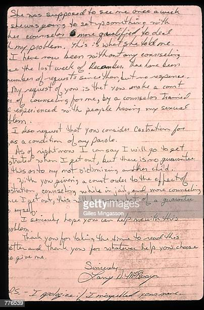Larry Don McQuay's letter is published April 15 1996 in San Antonio TX McQuay who served six years of an eightyear sentence is a convicted...