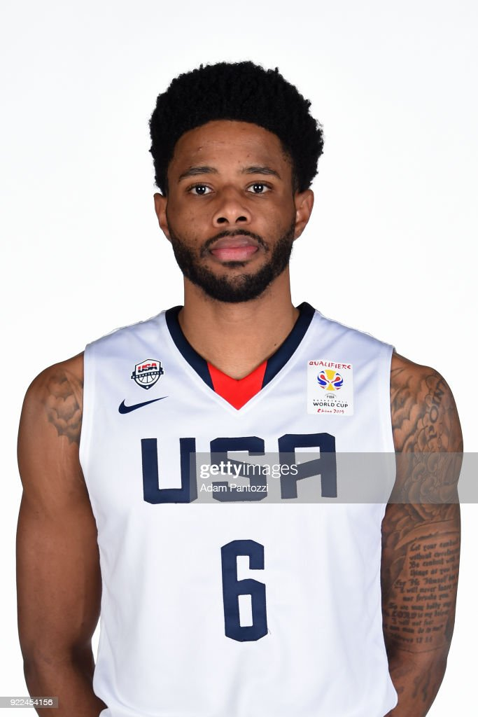 Larry Drew II #6 of Team USA poses for a head shot on February 20, 2018 at the LA Clippers Training Center in Playa Vista, California.