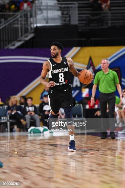 Larry Drew II of the USA Team handles the ball against the Mexico National Team during the 2018 NBA G League International Challenge presented by...