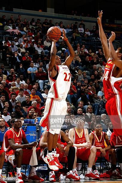 Larry Drew II of the West team shoots during the McDonald's AllAmerican High School game against the East team on March 26 2008 at the Bradley Center...