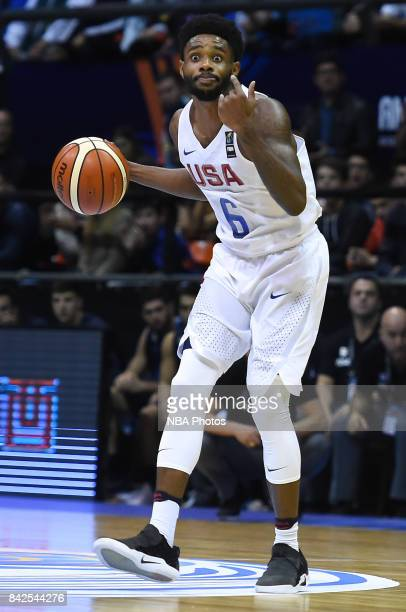 Larry Drew II of United States gestures during the FIBA Americup final match between US and Argentina at Orfeo Superdomo arena on September 03 2017...