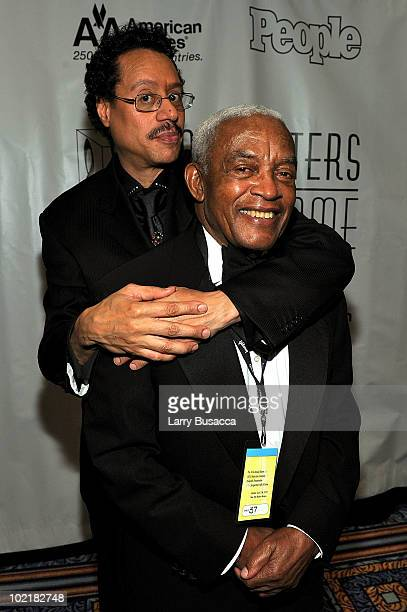 Larry Dunn and Irving Burgie attends the 41st Annual Songwriters Hall of Fame Ceremony at The New York Marriott Marquis on June 17 2010 in New York...