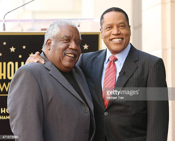 Larry Elder and his brother attend the ceremony honoring Larry Elder with a Star on The Hollywood Walk of Fame on April 27 2015 in Hollywood...