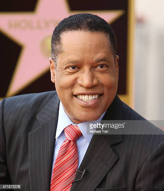 Larry Elder attends the ceremony honoring him with a Star on The Hollywood Walk of Fame on April 27 2015 in Hollywood California