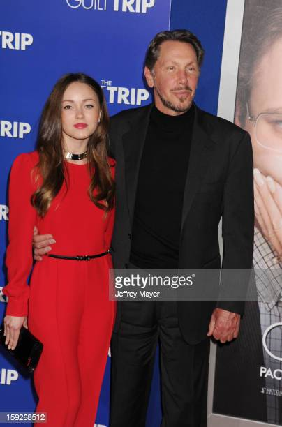 Larry Ellison and guest arrive at the 'The Guilt Trip' Los Angeles Premiere at Regency Village Theatre on December 11 2012 in Westwood California