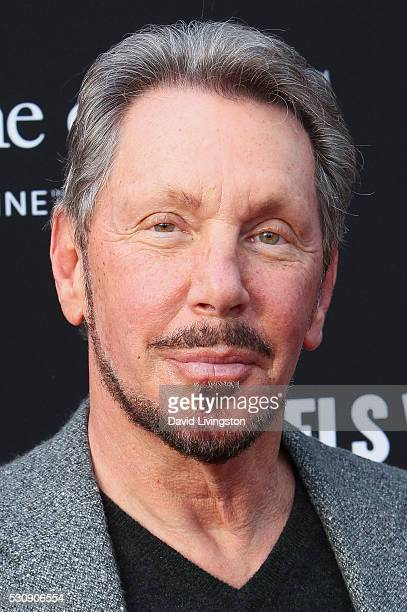 Larry Ellison arrives at the 3rd Biennial Rebels with a Cause Fundraiser on May 11 2016 in Santa Monica California