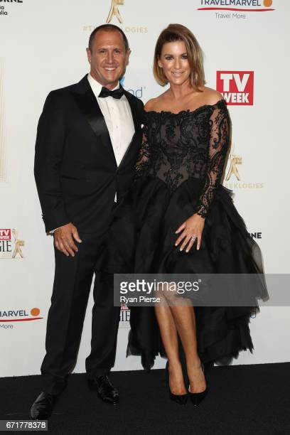 Larry Emdur and Kylie Gillies arrives at the 59th Annual Logie Awards at Crown Palladium on April 23 2017 in Melbourne Australia