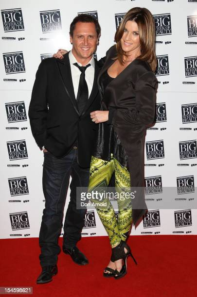 Larry Emdur and Kylie Gillies pose at the Big Week Of Beauty Launch event at Rainford St Social on October 23 2012 in Sydney Australia