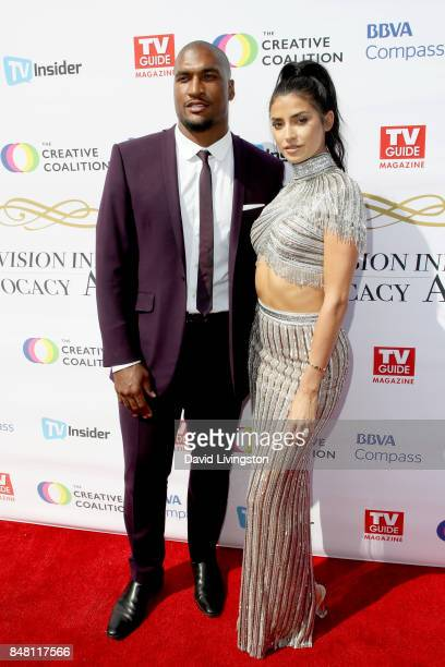 Larry English and Nicole Williams at the Television Industry Advocacy Awards at TAO Hollywood on September 16 2017 in Los Angeles California