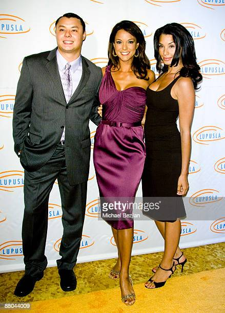 Larry Eva and Lara LaRue arrive at the 9th Annual Lupus LA Orange Ball at the Beverly Wilshire Four Seasons Hotel on May 28 2009 in Beverly Hills...