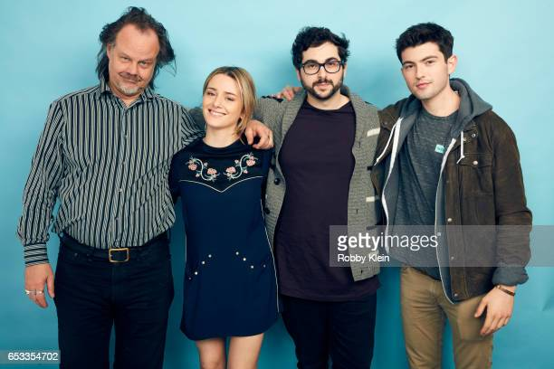 Larry Fessenden Addison Timlin Robert Mockler and Ian Nelson of 'Like Me' pose for a portrait at The Wrap and Getty Images SxSW Portrait Studio on...