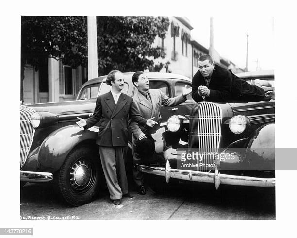 Larry Fine Moe Howard and Curly Howard as the Three Stooges Circa 1940