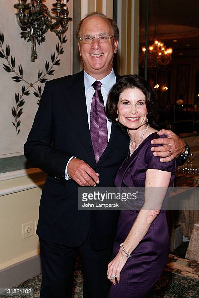 Larry Fink and Lori Fink attends The NYU Cancer Institute Gala at The Pierre Hotel on October 5 2010 in New York City