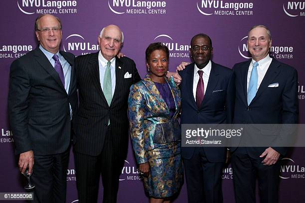 Larry Fink Ken Langone Beatrice Welters Anthony Welters and Robert Grossman attend NYU Langone 2016 Perlmutter Cancer Center Gala at The Plaza on...
