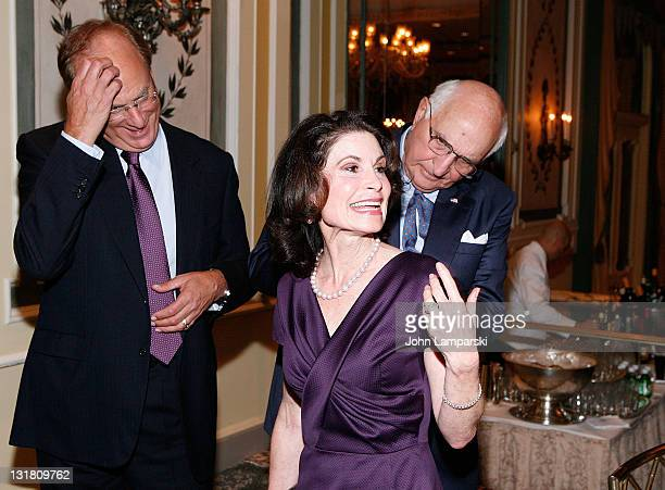 Larry Fink Lori Fink and Kenneth G Langone attends The NYU Cancer Institute Gala at The Pierre Hotel on October 5 2010 in New York City
