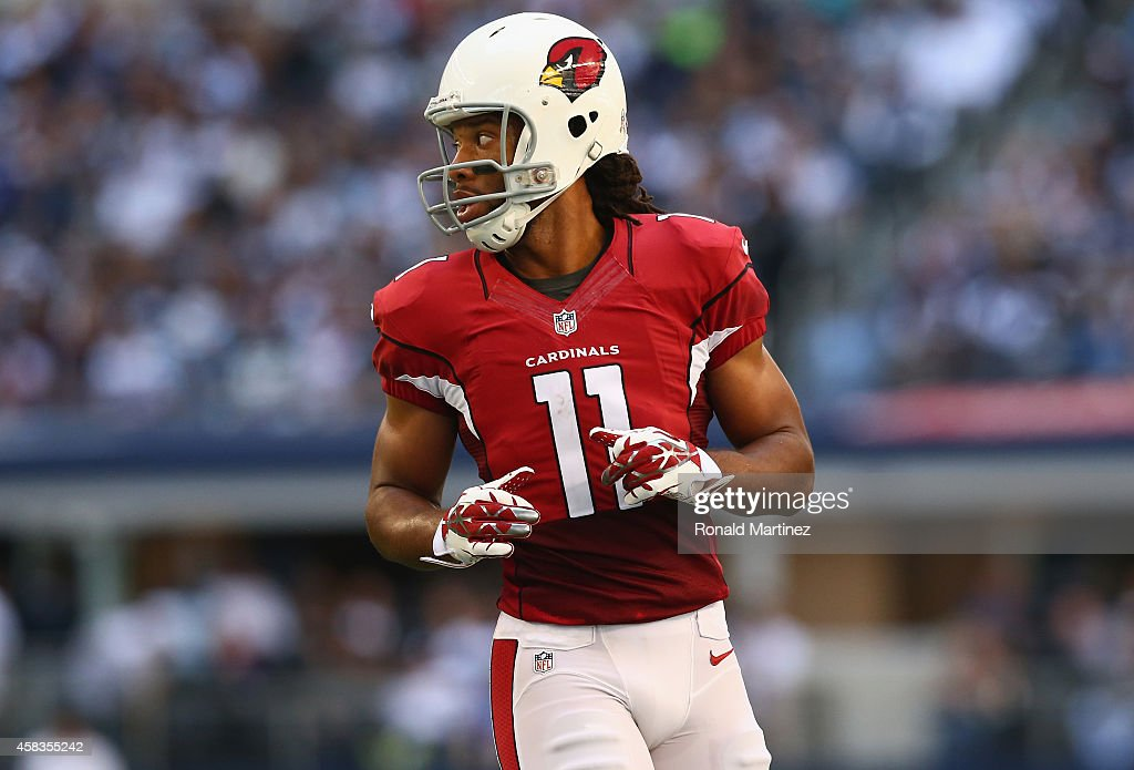 Larry Fitzgerald #11 of the Arizona Cardinals at AT&T Stadium on November 2, 2014 in Arlington, Texas.