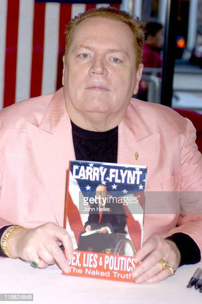 """Larry Flynt during Larry Flynt Signs his New Book """"Sex, Lies And Politics: The Naked Truth"""" at Hustler Store in West Hollywood, California, United..."""
