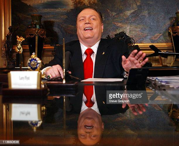 Larry Flynt during Publisher Larry Flynt Announces His Official Run For California Governor's Recall Election at LFP Headquarters in Los Angeles,...