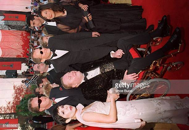 Larry Flynt with his companion and Woody Harrelson who is nominated for Best Actor for the movie The People vs Larry Flynt along with his companion...