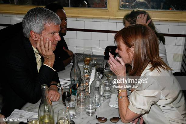 Larry Gagosian and Nicole Miller attend ALEXA RAY JOEL PreConcert Dinner at Schillers Liquor Bar on February 28 2007 in New York City