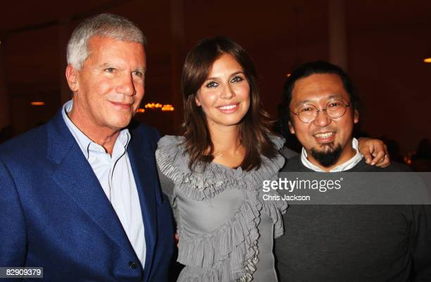 Larry Gagosian Takashi Murakami and Daria Dasha Zhukova attends a private dinner for the Gagosian Gallery Opening of for what you are about to...