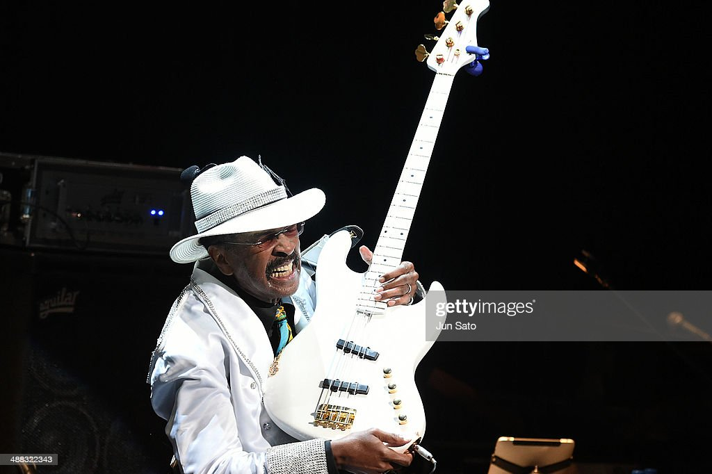 Larry Graham performs at Billboard Live on May 5, 2014 in Tokyo, Japan.