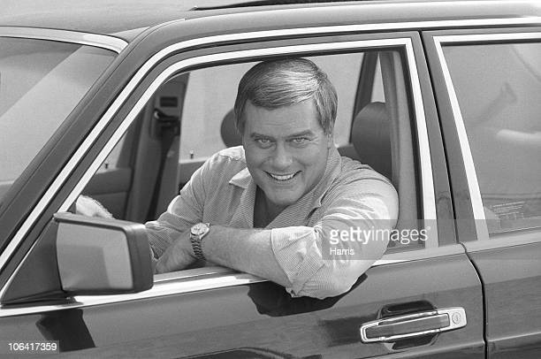 Larry Hagman American actor and star of soap opera 'Dallas' in October 1983