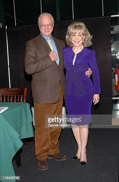 Larry Hagman and Barbara Eden during Barbara Eden Larry Hagman Sign I Dream Of Jeannie DVD March 15 2006 at Barnes Noble in New York City New York...