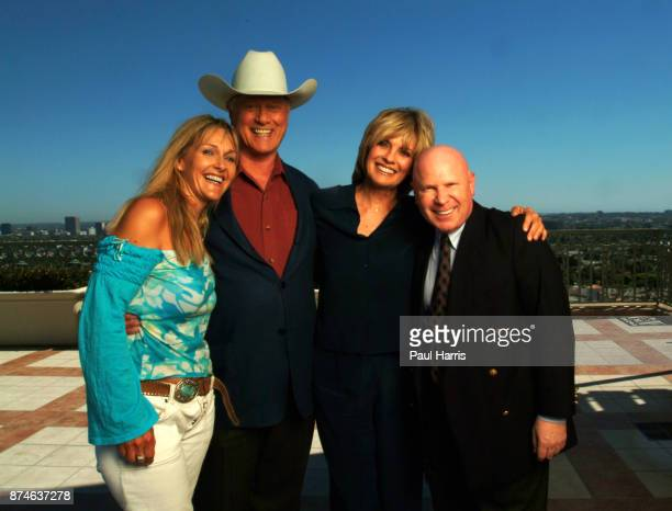 Larry Hagman is now 71 years old and has had a liver transplant Linda Gray is 60 years old and a grandmother photographed with their publicist's at...