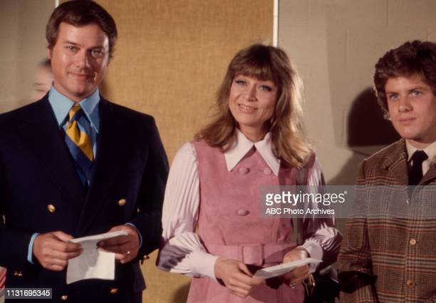 Larry Hagman Nita Talbot Christopher Beaumont appearing on the Walt Disney Television via Getty Images tv series 'Here We Go Again'