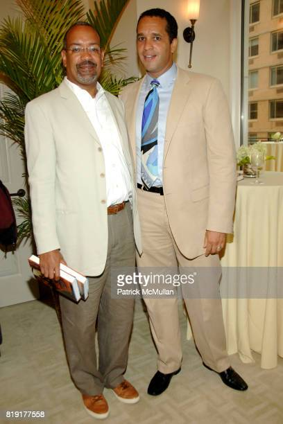 Larry Harris and Rusty O'Kelley attend Susan FalesHill's ONE FLIGHT UP Book Launch Party at 15 Central Park West on July 21st 2010 in New York City
