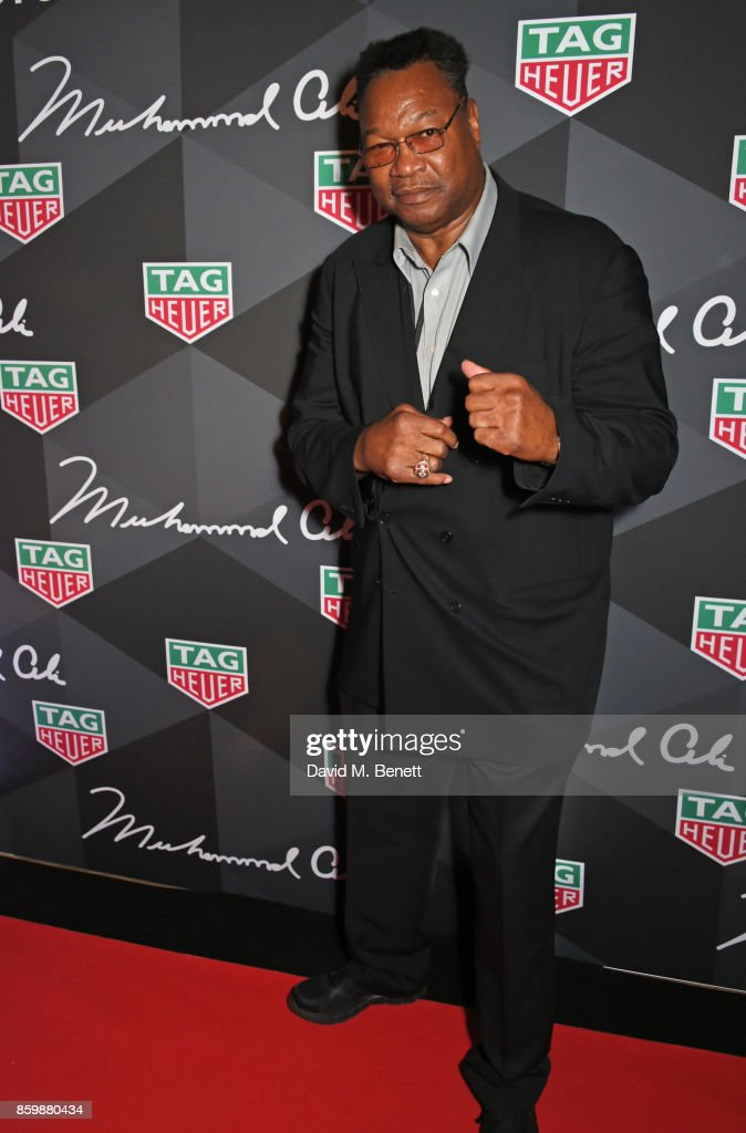 Larry Holmes attends the launch of the TAG Heuer Muhammad Ali Limited Edition Timepieces at BXR Gym on October 10, 2017 in London, England.