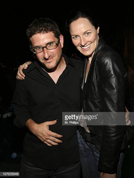 Larry Humnel and Diane Hudock during Last Chance for Animals Fundraiser at Private in Beverly Hills CA United States