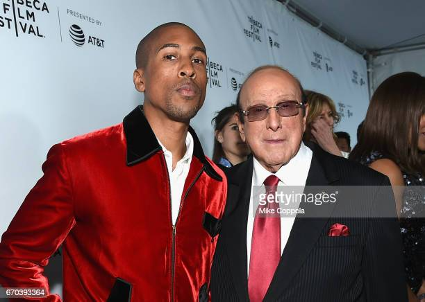 Larry Jackson and Clive Davis attend the 'Clive Davis The Soundtrack Of Our Lives' Premiere at Radio City Music Hall on April 19 2017 in New York City