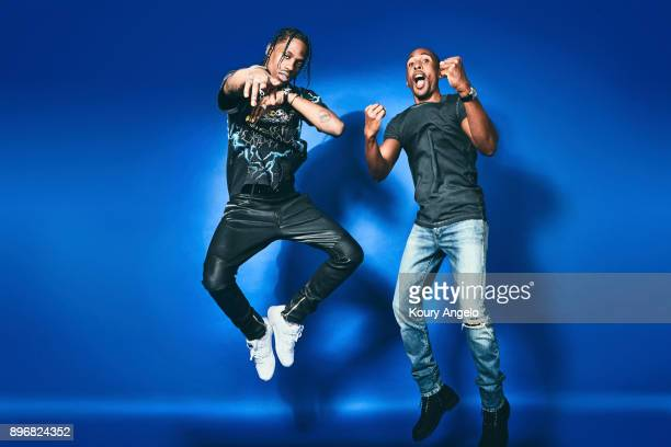 Larry Jackson and Travis Scott are photographed for Billboard Magazine on September 22 2016 in Los Angeles California