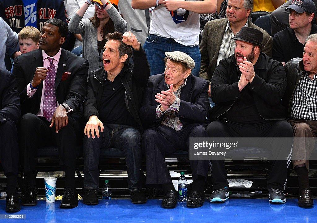Celebrities Attend The Chicago Bulls Vs New York Knicks - April 8, 2012