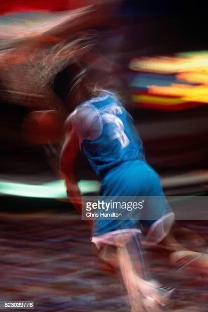 Larry Johnson of the Charlotte Hornets dunks the ball against the Atlanta Hawks at the Omni Coliseum in Atlanta Georgia circa 1992 NOTE TO USER User...
