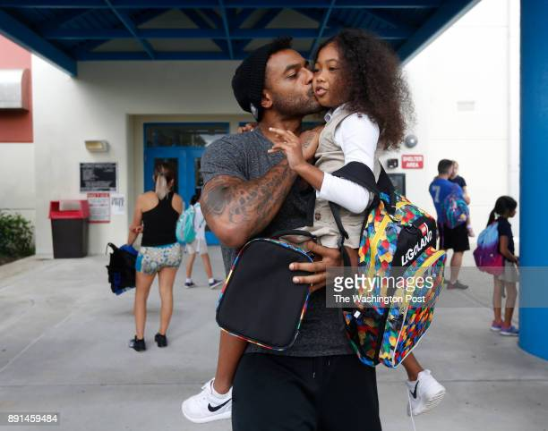 Larry Johnson picks up his 7 yearold daughter Jaylen at the end of her school day Johnson a former Pro Bowl running back believes he is living with...