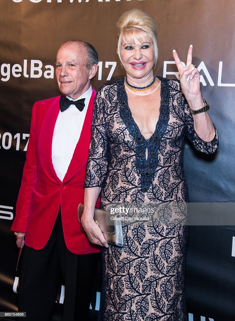 Larry Kaiser and businesswoman Ivana Trump arrive at Gabrielle's Angel Foundation's Angel Ball 2017 at Cipriani Wall Street on October 23, 2017 in New York City.