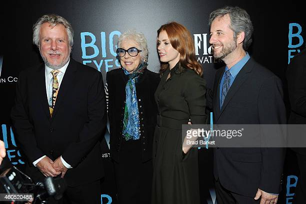 "Larry Karaszewski, Margaret Keane, Amy Adams, and Scott Alexander attend the ""Big Eyes"" New York Premiere at Museum of Modern Art on December 15,..."